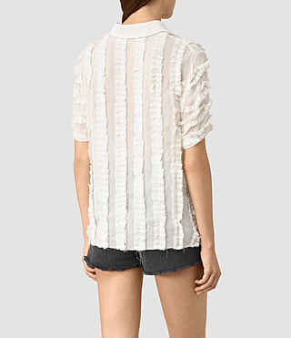 Donne Emrys Ruffle Shirt (OYSTER WHITE) - product_image_alt_text_4