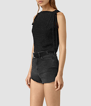 Womens Milda Embellished Top (Black) - product_image_alt_text_3