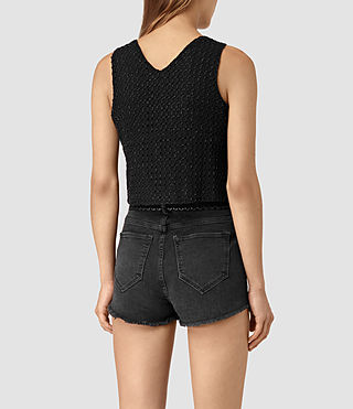 Womens Milda Embellished Top (Black) - product_image_alt_text_4