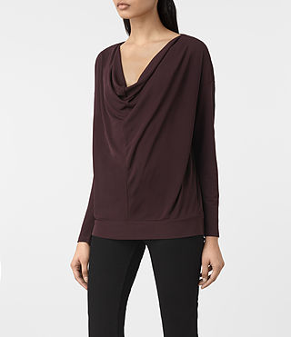 Womens Vicki Top (Damson Red) - product_image_alt_text_2