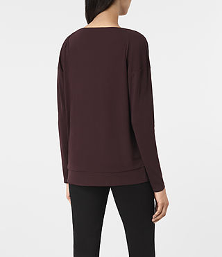 Womens Vicki Top (Damson Red) - product_image_alt_text_3