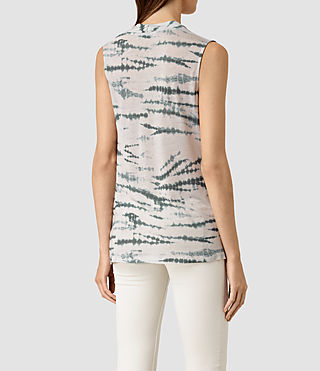 Mujer Amei Tye Top (STONE GREY/BLUE) - product_image_alt_text_4