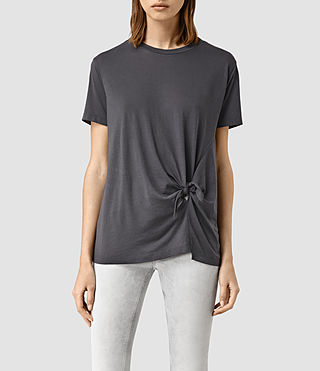 Womens Ashley Devo Tee (Washed Black) - product_image_alt_text_1