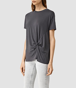 Womens Ashley Devo Tee (Washed Black) - product_image_alt_text_2