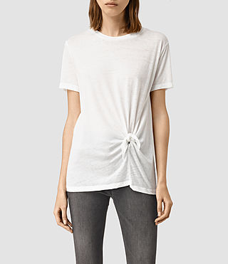 Mujer Ashley Devo Tee (Chalk White) - product_image_alt_text_1