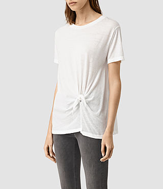 Mujer Ashley Devo Tee (Chalk White) - product_image_alt_text_2