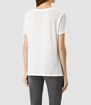 Mujer Ashley Devo Tee (Chalk White) - product_image_alt_text_3