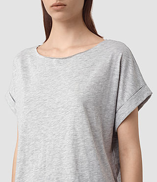 Women's Tyler Cropped Tee (Mist Grey Marl) - product_image_alt_text_2