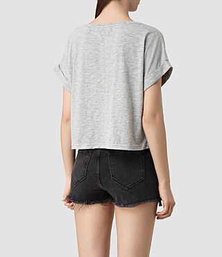 Women's Tyler Cropped Tee (Mist Grey Marl) - product_image_alt_text_4