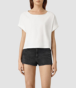 Mujer Tyler Cropped Tee (Chalk White)