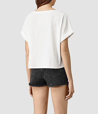 Mujer Tyler Cropped Tee (Chalk White) - product_image_alt_text_4