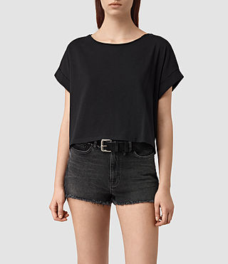 Womens Tyler Cropped Tee (Black)
