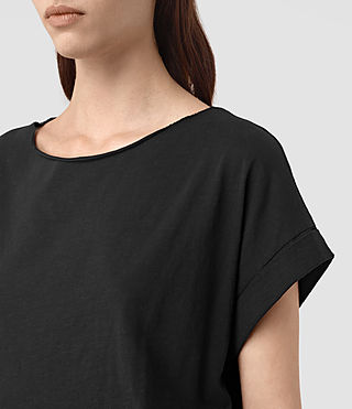 Womens Tyler Cropped Tee (Black) - product_image_alt_text_2