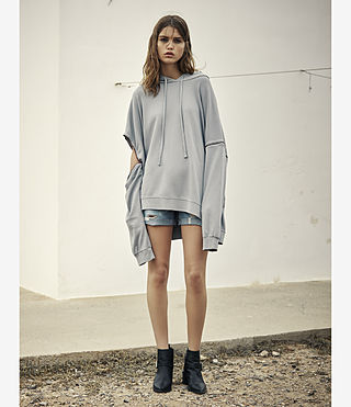Women's Graded Lo Hoody (MIST BLUE) - product_image_alt_text_4