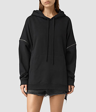Damen Graded Lo Hoody (Black)