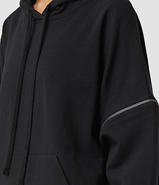 Women's Graded Lo Hoody (Black) - product_image_alt_text_2