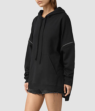 Womens Graded Lo Hoody (Black) - product_image_alt_text_3