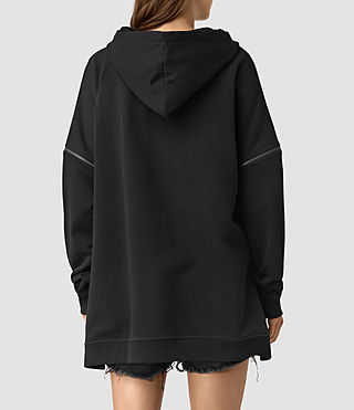 Women's Graded Lo Hoody (Black) - product_image_alt_text_4