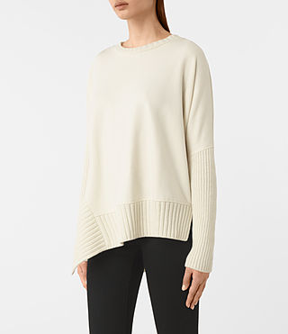 Damen Nia Drape Sweatshirt (NATURAL WHITE) - product_image_alt_text_3