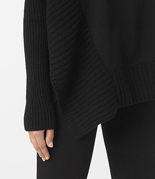 Mujer Nia Drape Sweat (Black) - product_image_alt_text_3