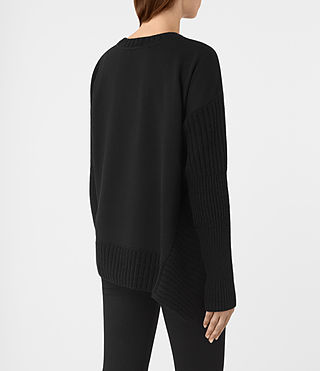 Mujer Nia Drape Sweat (Black) - product_image_alt_text_4