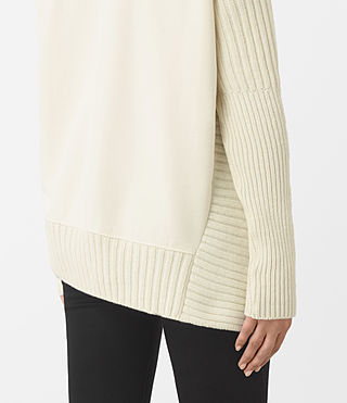 Womens Nia Drape Sweatshirt (Natural) - product_image_alt_text_2