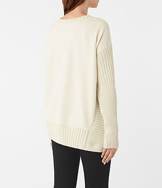 Womens Nia Drape Sweatshirt (Natural) - product_image_alt_text_4