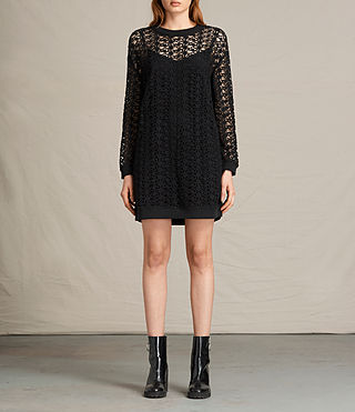 Womens Liza Lace Dress (Black) - product_image_alt_text_1