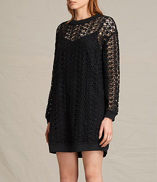 Womens Liza Lace Dress (Black) - product_image_alt_text_2