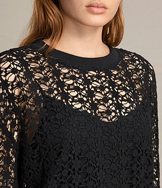 Womens Liza Lace Dress (Black) - product_image_alt_text_3