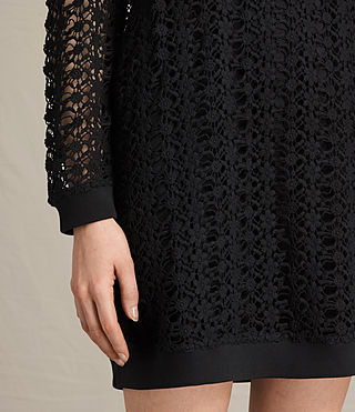 Womens Liza Lace Dress (Black) - product_image_alt_text_4