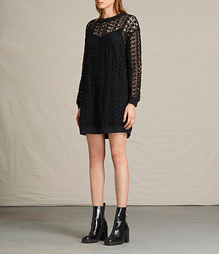Womens Liza Lace Dress (Black) - product_image_alt_text_5