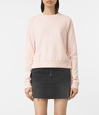 Womens Leti Cropped Sweatshirt (Quartz Pink)