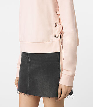 Femmes Leti Cropped Sweatshirt (Quartz Pink) - product_image_alt_text_2