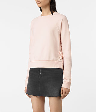 Femmes Leti Cropped Sweatshirt (Quartz Pink) - product_image_alt_text_3