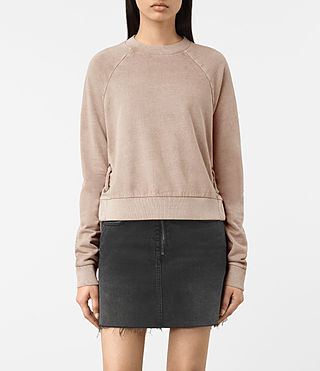Mujer Leti Cropped Sweatshirt (ALMOND PINK) - product_image_alt_text_1