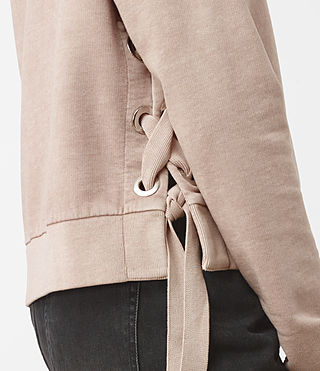 Damen Leti Cropped Sweatshirt (ALMOND PINK) - product_image_alt_text_2