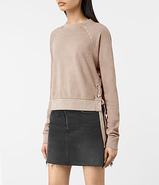 Damen Leti Cropped Sweatshirt (ALMOND PINK) - product_image_alt_text_3
