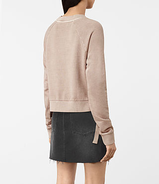Damen Leti Cropped Sweatshirt (ALMOND PINK) - product_image_alt_text_4