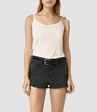 Womens Tied Top (Chalk White) - product_image_alt_text_1