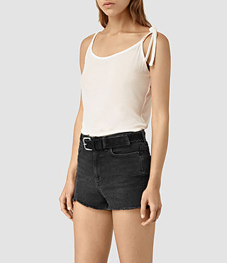 Womens Tied Top (Chalk White) - product_image_alt_text_3