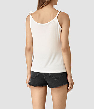 Womens Tied Top (Chalk White) - product_image_alt_text_4