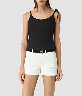 Womens Tied Top (Black)