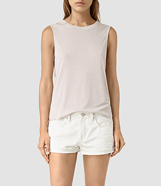 Femmes Louis Stripe Top (SMOG WHITE/P.GREY) -