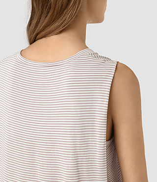 Femmes Louis Stripe Top (SMOG WHITE/P.GREY) - product_image_alt_text_2