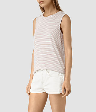 Femmes Louis Stripe Top (SMOG WHITE/P.GREY) - product_image_alt_text_3