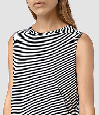 Mujer Louis Stripe Top (DRKINKBLU/CHKWHT) - product_image_alt_text_2