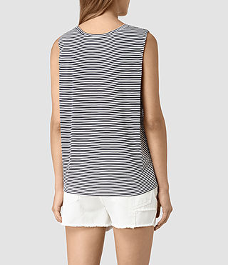 Mujer Louis Stripe Top (DRKINKBLU/CHKWHT) - product_image_alt_text_4