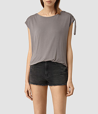 Femmes Aria Drape Top (ANTHRACITE GREY) -
