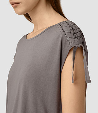 Womens Aria Drape Top (ANTHRACITE GREY) - product_image_alt_text_2